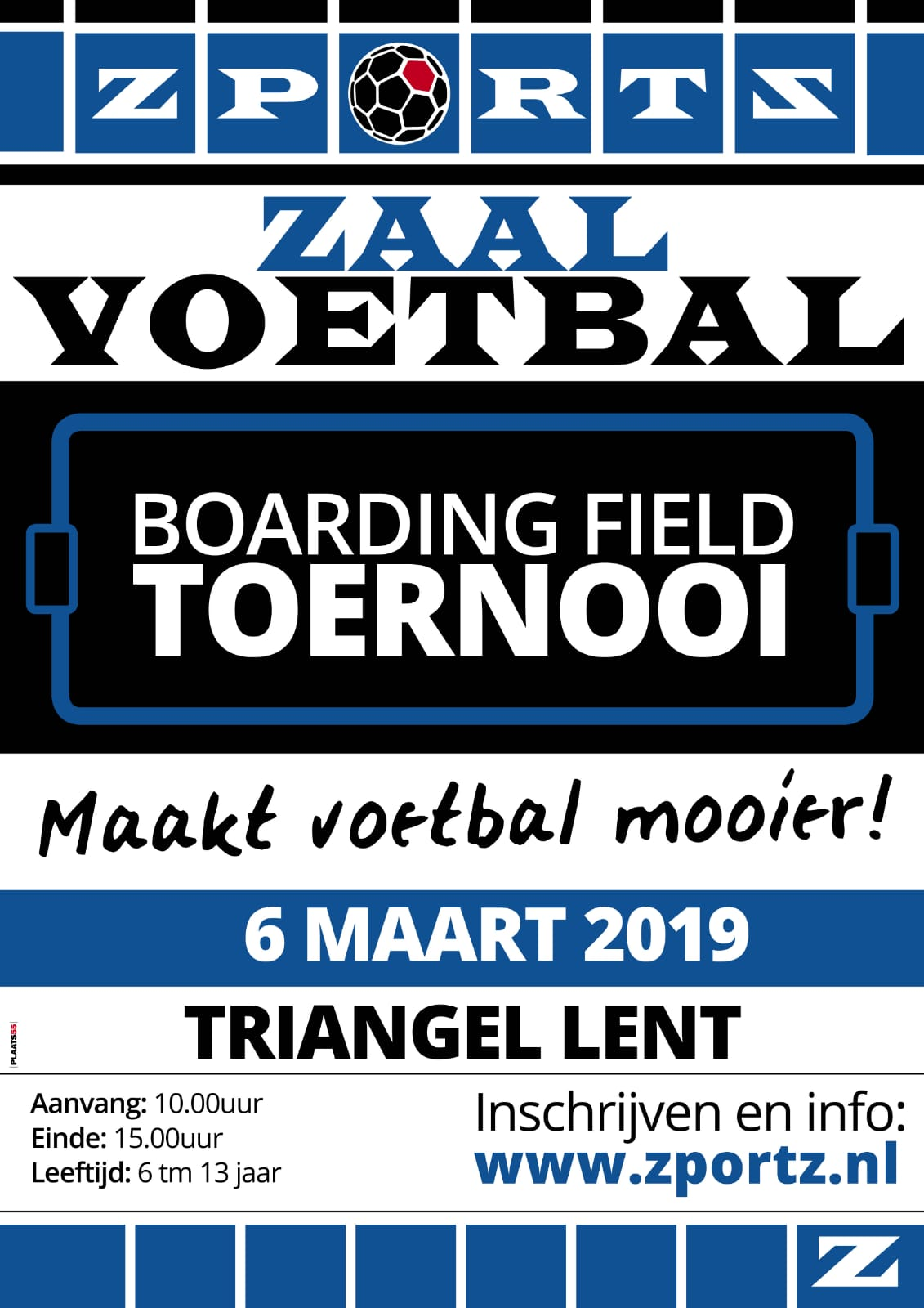 Boarding field toernooi 6 maart traingel Lent